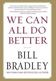 Book Cover for WE CAN ALL DO BETTER