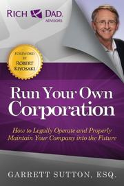 Book Cover for RUN YOUR OWN CORPORATION