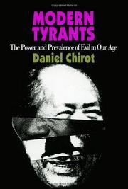 MODERN TYRANTS by Daniel Chirot