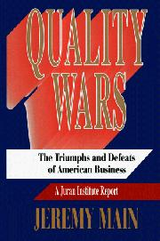 QUALITY WARS by Jeremy Main