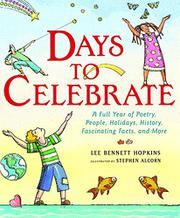 DAYS TO CELEBRATE by Lee Bennett Hopkins