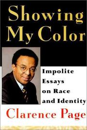SHOWING MY COLOR by Clarence Page