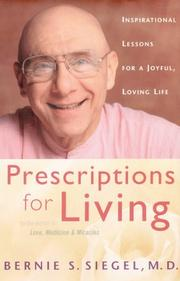 Book Cover for PRESCRIPTIONS FOR LIVING