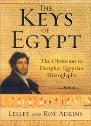Book Cover for THE KEYS OF EGYPT