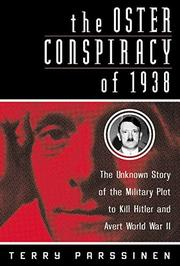 Book Cover for THE OSTER CONSPIRACY OF 1938