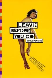 Cover art for LEAVE BEFORE YOU GO
