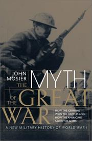 Cover art for THE MYTH OF THE GREAT WAR