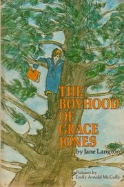 THE BOYHOOD OF GRACE JONES by Jane Langton
