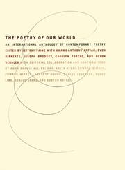 Book Cover for THE POETRY OF OUR WORLD