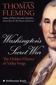 Cover art for WASHINGTON'S SECRET WAR