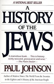 Cover art for A HISTORY OF THE JEWS