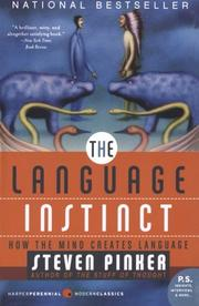 Book Cover for THE LANGUAGE INSTINCT