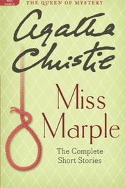 Cover art for MISS MARPLE