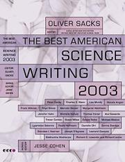 Book Cover for THE BEST AMERICAN SCIENCE WRITING 2003