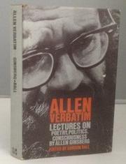 ALLEN VERBATIM by Allen Ginsberg