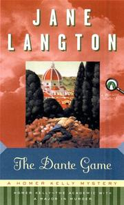 THE DANTE GAME by Jane Langton