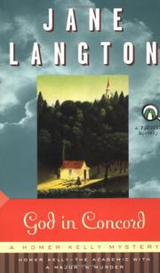 GOD IN CONCORD by Jane Langton