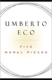 Book Cover for FIVE MORAL PIECES