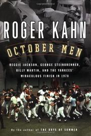 OCTOBER MEN by Roger Kahn