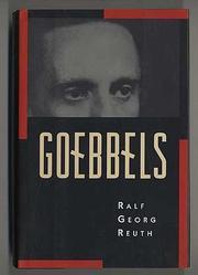 GOEBBELS by Ralf Georg Reuth