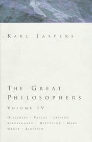 THE GREAT PHILOSOPHERS by Karl Jaspers