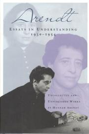 ESSAYS IN UNDERSTANDING by Hannah Arendt
