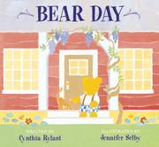 BEAR DAY by Cynthia Rylant
