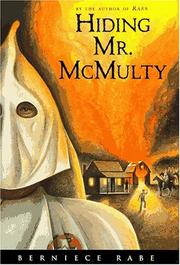 HIDING MR. McMULTY by Berniece Rabe