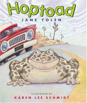 HOPTOAD by Jane Yolen
