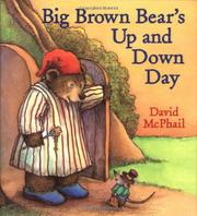 BIG BROWN BEAR'S UP AND DOWN DAY by David McPhail