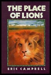 Cover art for THE PLACE OF LIONS