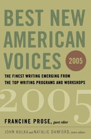 BEST NEW AMERICAN VOICES 2005 by Francine Prose