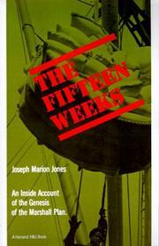 THE FIFTEEN WEEKS by Joseph M. Jones