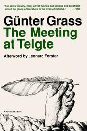 Cover art for THE MEETING AT TELGTE