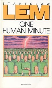 Book Cover for ONE HUMAN MINUTE