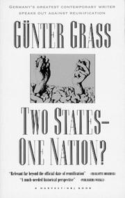 TWO STATES, ONE NATION? by Gunter Grass