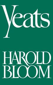 YEATS by Harold Bloom