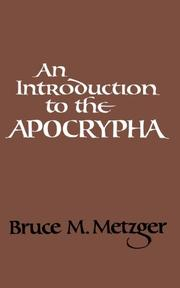 AN INTRODUCTION TO THE APOCRYPHA by Bruce M. Metzger