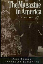 Book Cover for THE MAGAZINE IN AMERICA, 1740-1990