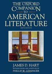 THE OXFORD COMPANION TO AMERICAN LITERATURE by James D. Hart