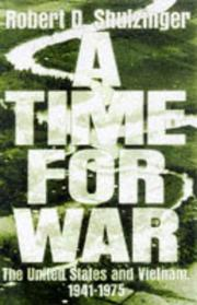 Cover art for A TIME FOR WAR