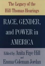 RACE, GENDER, AND POWER IN AMERICA by Anita Faye Hill