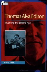 THOMAS ALVA EDISON by Gene Adair