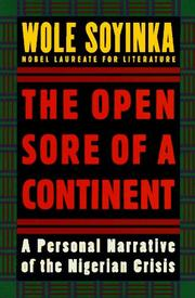 THE OPEN SORE OF A CONTINENT by Wole Soyinka