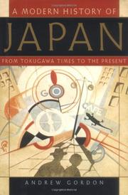 Cover art for A MODERN HISTORY OF JAPAN