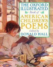 Book Cover for THE OXFORD ILLUSTRATED BOOK OF AMERICAN CHILDREN'S POEMS