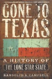 Book Cover for GONE TO TEXAS