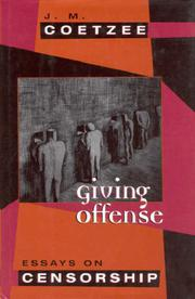 GIVING OFFENSES by J.M. Coetzee