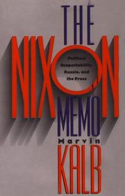 THE NIXON MEMO by Marvin Kalb