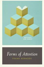FORMS OF ATTENTION by Frank Kermode